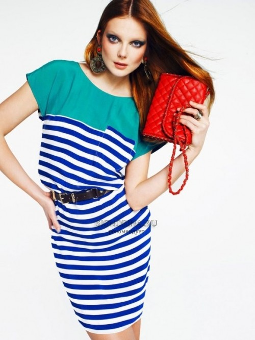 Mango Color & Stripes: лукбук лето 2011