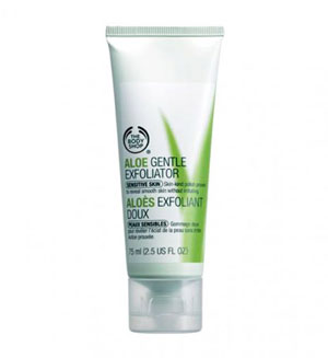 The Body Shop Aloe Gentle Exfoliator, скраб для лица