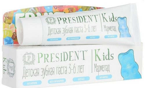 President Kids, Fruit Jelly (со вкусом мармелада) без фтора